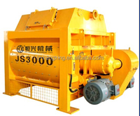 JS3000 compulsary twin shaft concrete mixer, concrete mixing machine