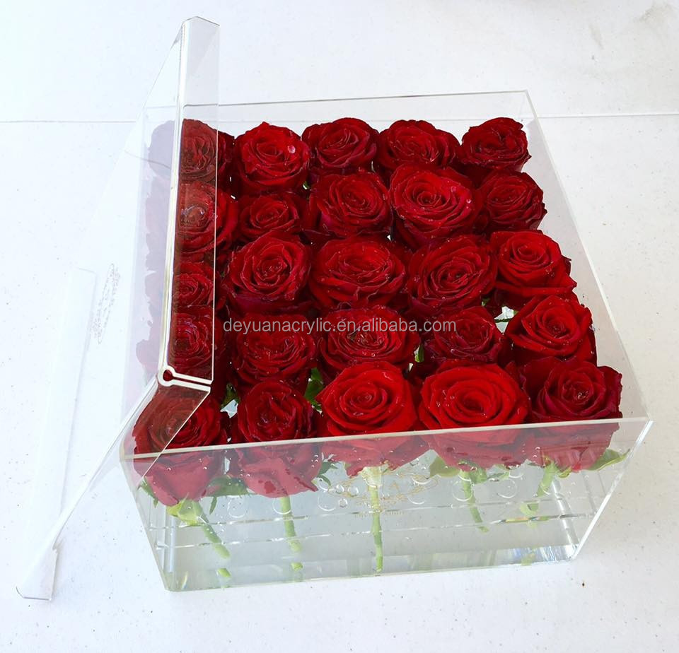 Acrylic Flower Box Handmade Vase for Weeding Centerpieces