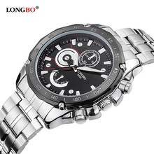 LongBo 8686 south america men Custom design geneva Low Price watch