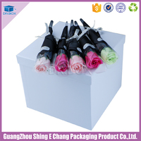 Delicate flowers box gift and gift box flowers/round hat paper box