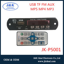 JK-P5001 Audio video kit usb mp5 decoder module fm radio with remote