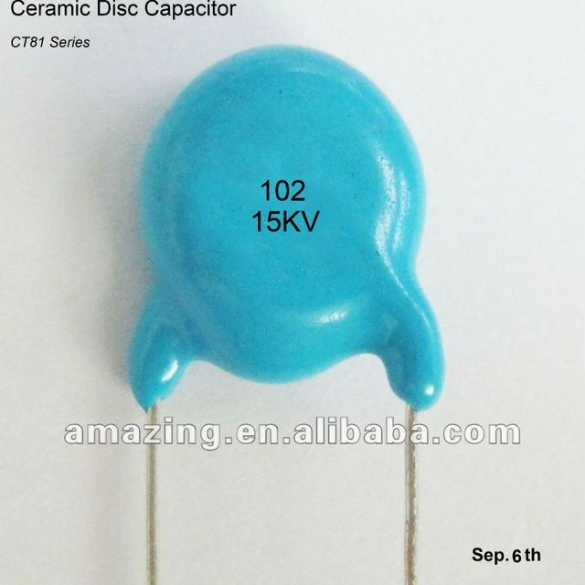 Ceramic Disc Capacitor 15KV 1000PF for x ray machine