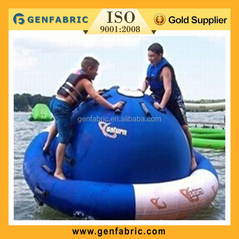 inflatable rotating top,water rotating saturn ,water planet saturn