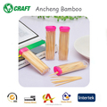 Wholesale polish portable bamboo wooden alternative medicated toothpicks