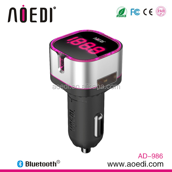 Multi-Function Bluetooth Enabled Car Kit Fm Transmitter with LED Display USB Port FM transmitter