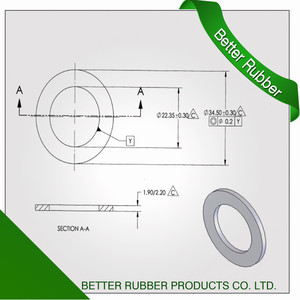 Better Rubber Food Grade Silicone Seal Washer From China