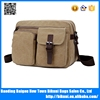 Multi functional big size 15 inch canvas notebook laptop messenger bag for men