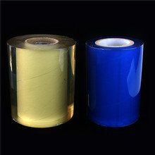 manufacturer wholesale high quality soft PVC transparent plastic blue protective electrostatic film