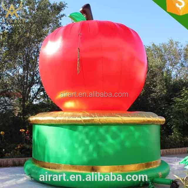 Cheap price PVC inflatables, inflatable apple model, promotion inflatable fruit balloon