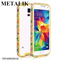 2015 Fashional Style Luxurious Gold Fancy Cell Phone Cover Case For Samsung Galaxy s4 s5