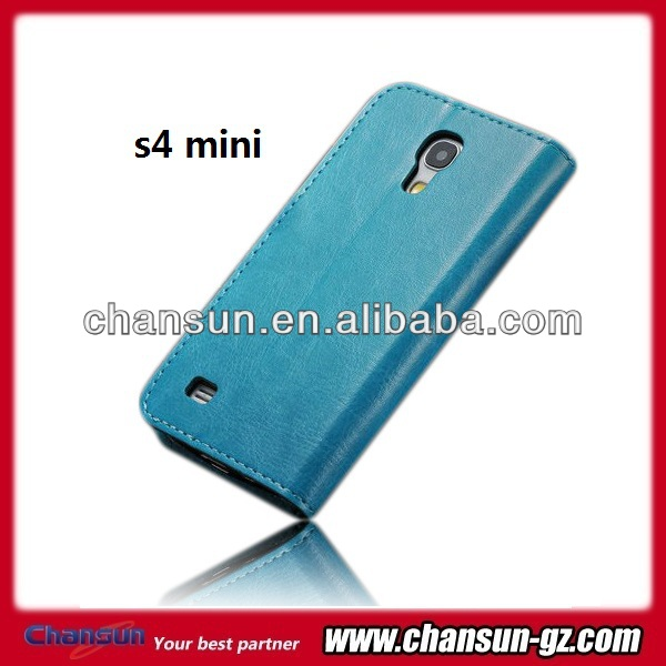 book flip leather case for samsung galaxy s4 mini