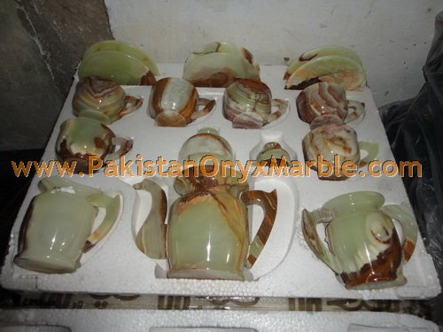 New and Unique design Onyx tea set wholesale price direct factory price