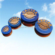 round caviar tin metal tin container for canned food