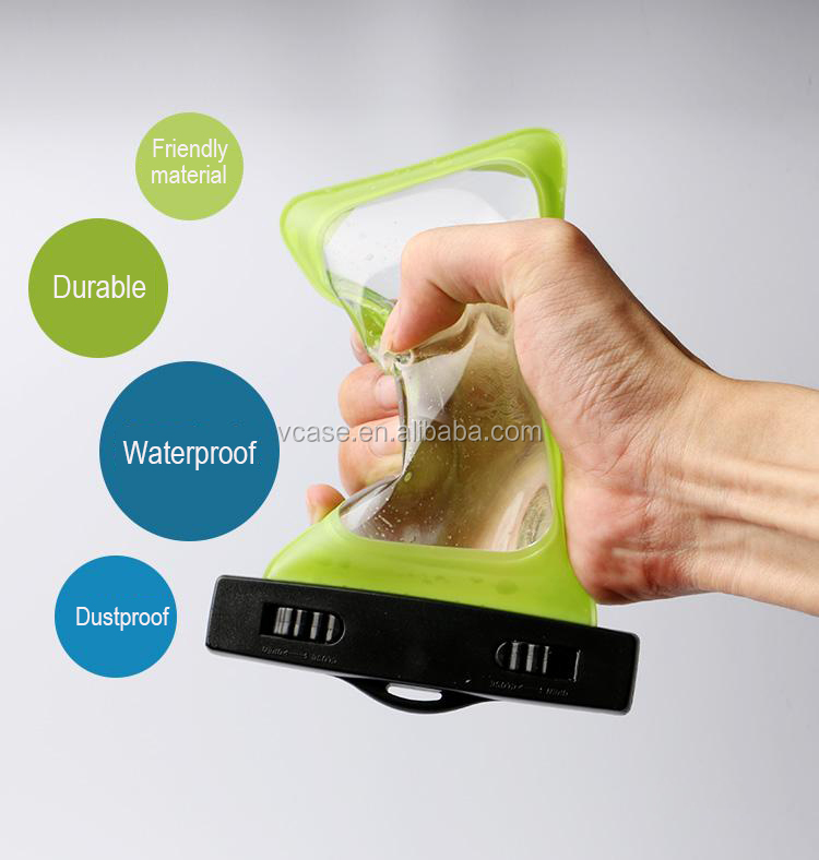 Transparent univeral waterproof bag cell phone waterproof case for samsung galaxy S2 I9100