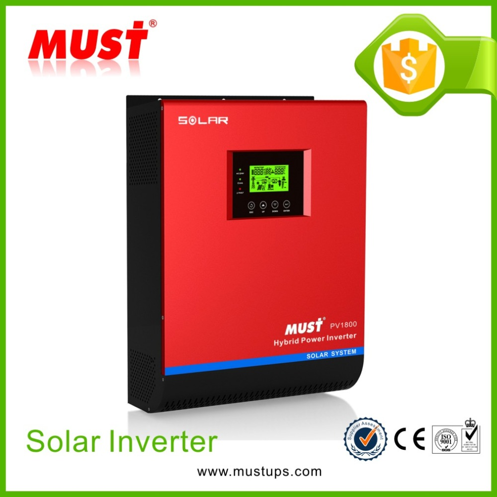 MUST PF 80% 50A MPPT Optional Remote Control 1-5KVA Solar Inverter