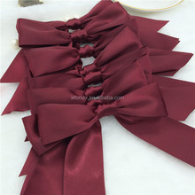 Beautiful Large Double Satin Ribbon Bows With Tails