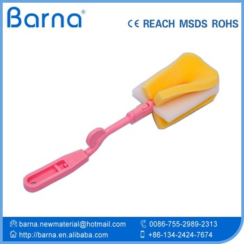 high quality stain dirt remover sponge cup bottle cleansing sponge handheld hole pore cleaning sponge with handle