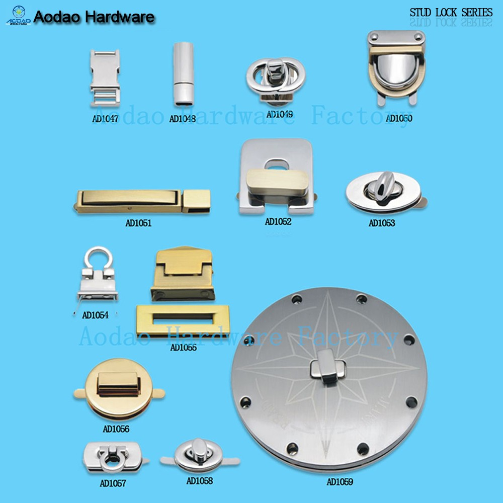 Zinc alloy turn lock closure with plated finish