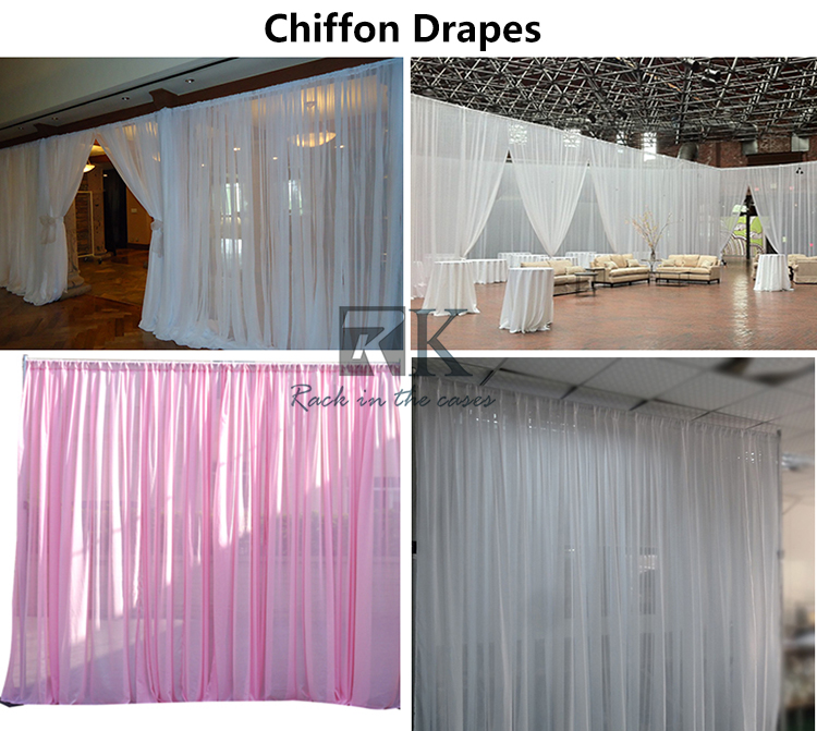 stand pole pipe and drapes hall backdrop led star curtain
