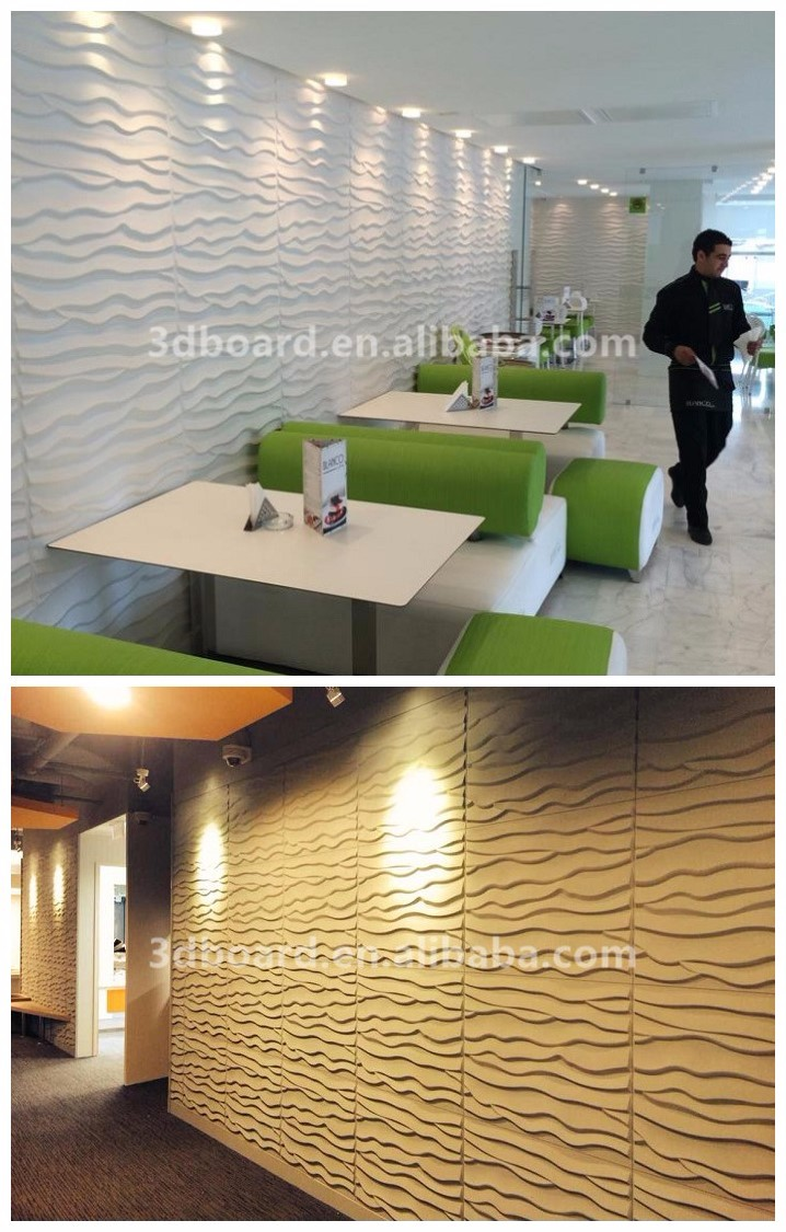 Waterproof boards interior home decoration wallpapers 3d for 3d wallpaper for office wall