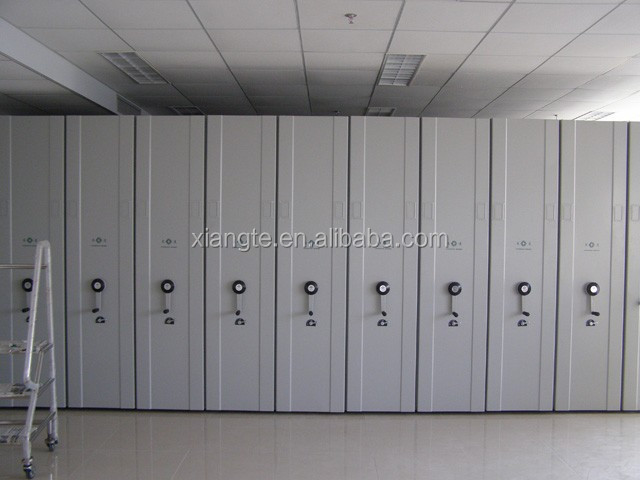 Heavy Goods Mobile Steel File Compactor, High density cabinet, Mobile shelving storage system