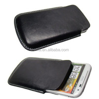 Classy Leather Black Cell Phone Case+Screen Protector HTC Sensation XL