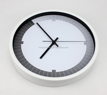 12 inch metal round high quality Wall clcok can decorate bedroom home cleal dial clocks wholesale