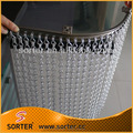 free sample hotel decor double hook link chain curtain drape