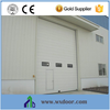 CE approval warehouse sectional garage door with pedestrian doors and windows