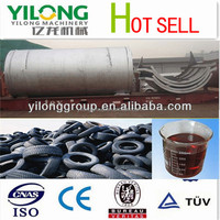 Daliy disposing 12tons advanced old tire to oil machine with factory price