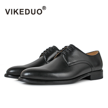 black full grain leather luxury leader shoes men