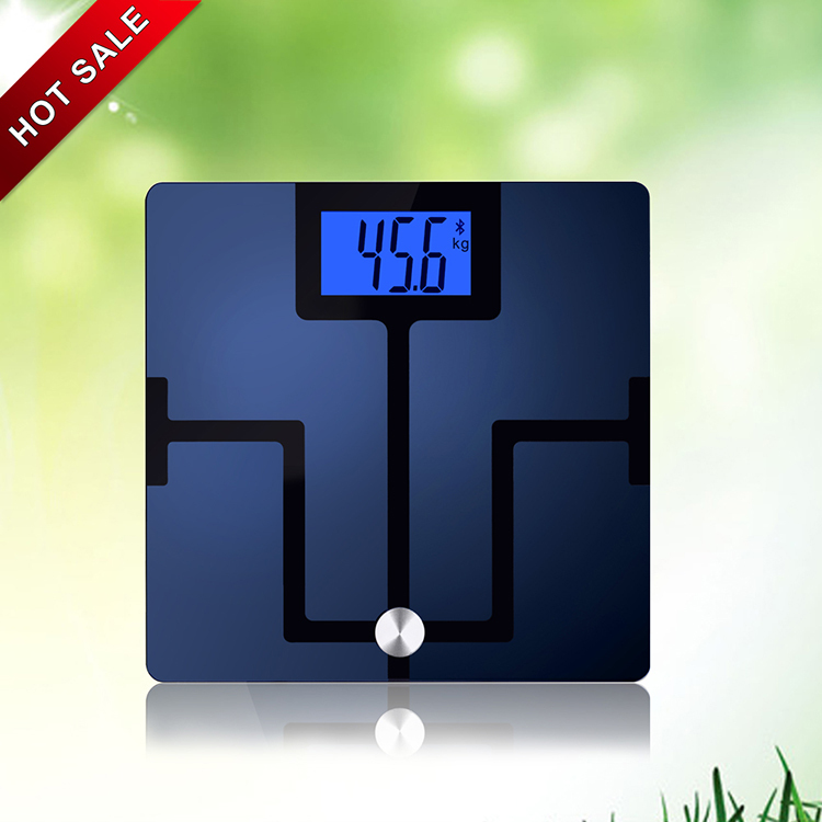 "4.3"" Large LCD Bluetooth Body Fat Analysis Digital Small Weight Scale"