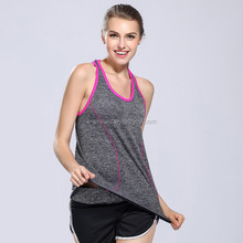 2016 new yoga design nylon and spandex sport gym custom tank top for women