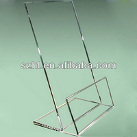 Transparent acrylic plastic display stand easel free standing easel