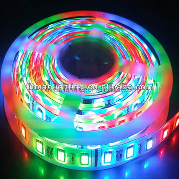 Popular hot-sale waterproof strips led 5050 the new arrival magic colorful decorative led strip lamp/ light with high quality