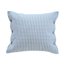 Hot selling factory price disposable pillowcases stripe wood button stripe pattern throw pillows