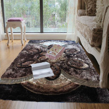 100% polyester shaggy silk carpets rugs