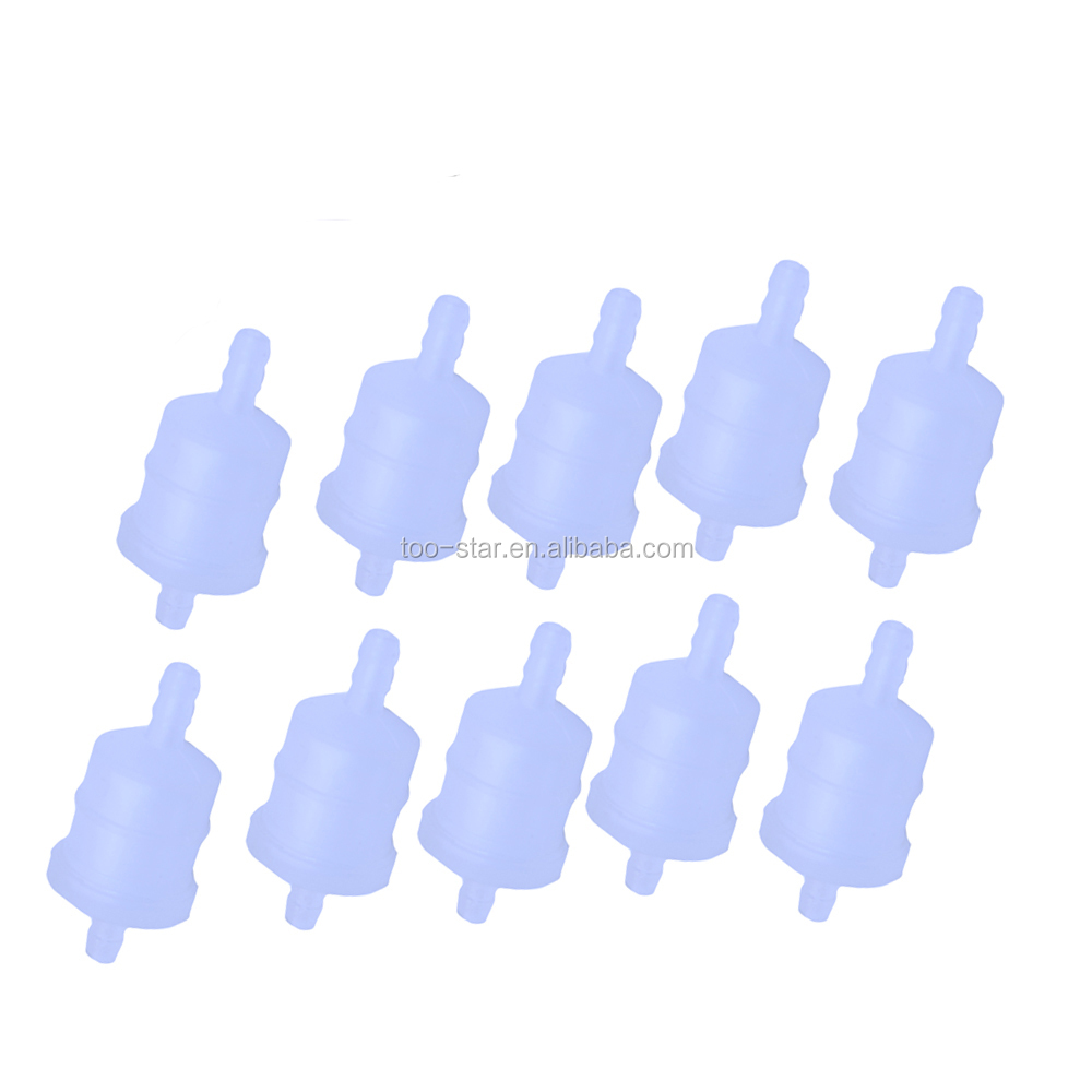 10x Gas Fuel Filter Inline Bulb 6MM-8MM 1//4 Motorcycle ATV Off Road Bike Engine