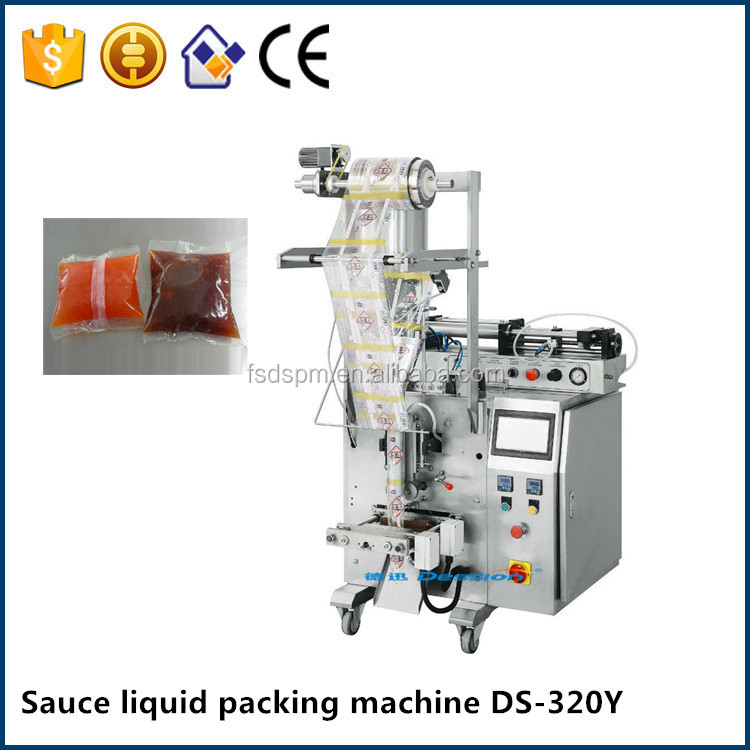 Small semi vertical automatic blue berry jam liquid bag filling packing machine manufacturer price