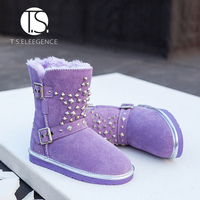 Free Shipping Baby Winter Thickening Cotton-padded Children Shoes Snow Boots For Kids Child Girls Size28-38 wholesale in stock
