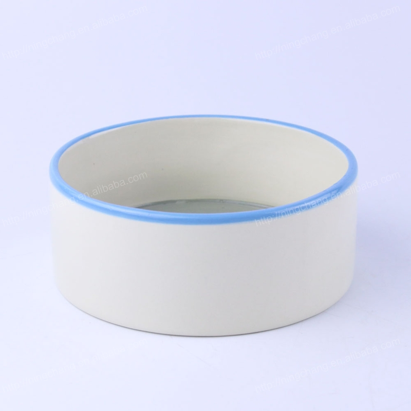 Wholesales Printed Cheap Customize White Ceramic Dog Bowls