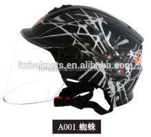 Black Spider Cartoon On Road Helmet Motorcycle Helmet Half Face Helmet