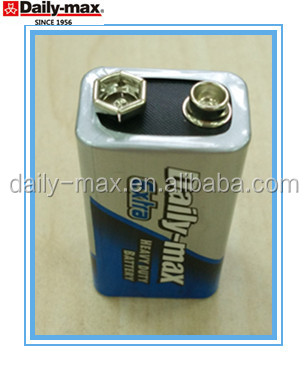 9v 6F22 heavy duty zinc carbon battery