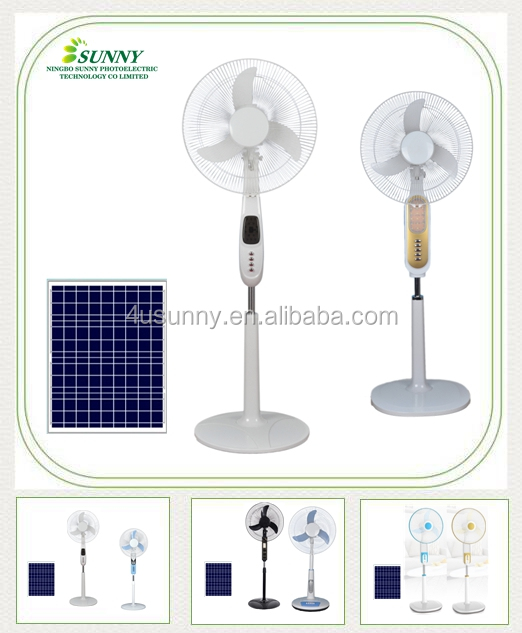 "12v dc metal big solar power 1g 26"" industrial water fan cooler stand fan in 16 Inche soalr floor fans with solar panels"