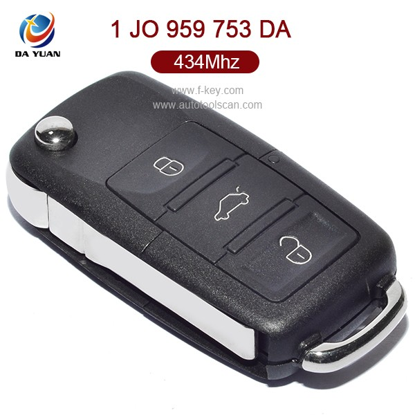 Top quality AK001007 key for VW keyless entry with 434Mhz key chip 1 JO 959 753 DA