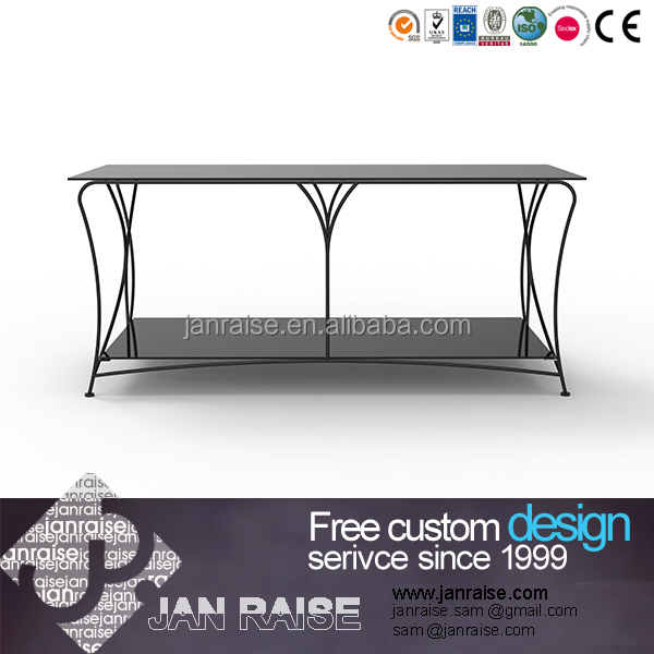 Two tiers tempered glass modern outdoor tv stand design