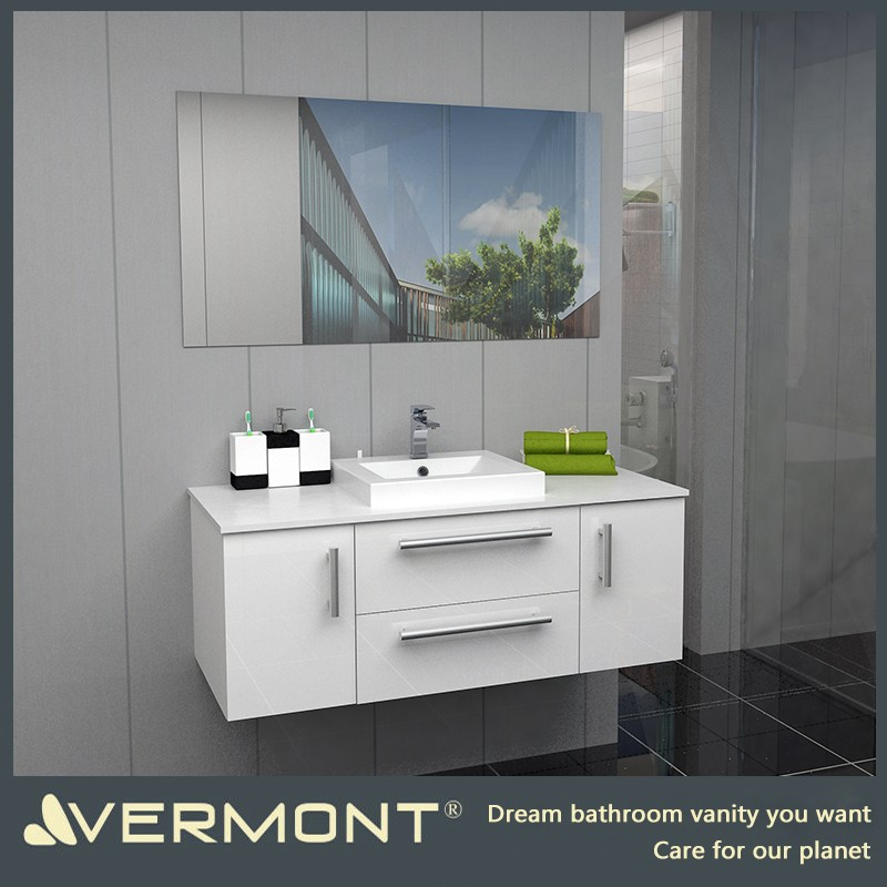 2017 Modern fashion deisgn cheap wall mounted bathroom vanity cabinet