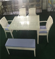 garden chair outdoor table set furniture white color rattan chair