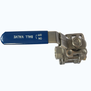 1 inch stainless steel cf8 cf8m material npt bsp bspt threaded 3 pc ball valve