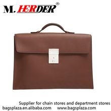 Wholesale custom mens leather bags brown leather briefcase